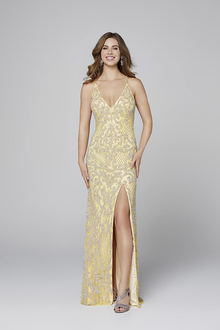 Primavera-3214-YELLOW-Prom Dress
