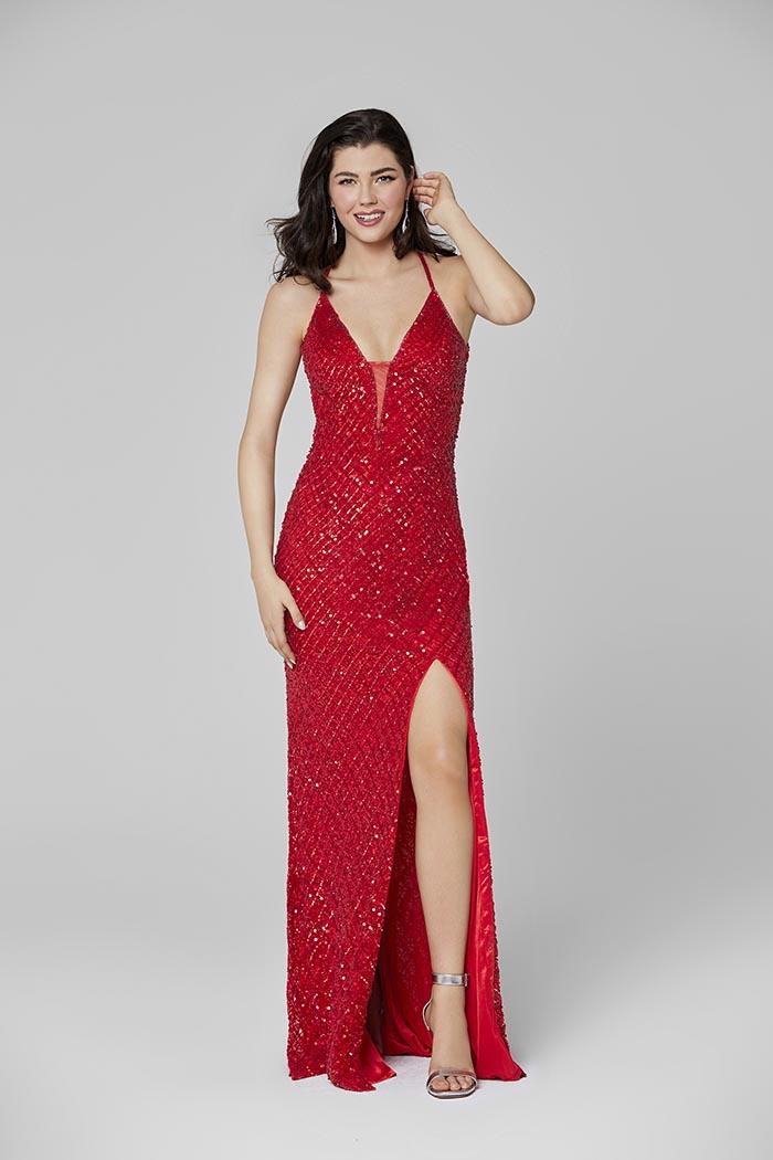 Primavera-3418-RED-Prom Dress