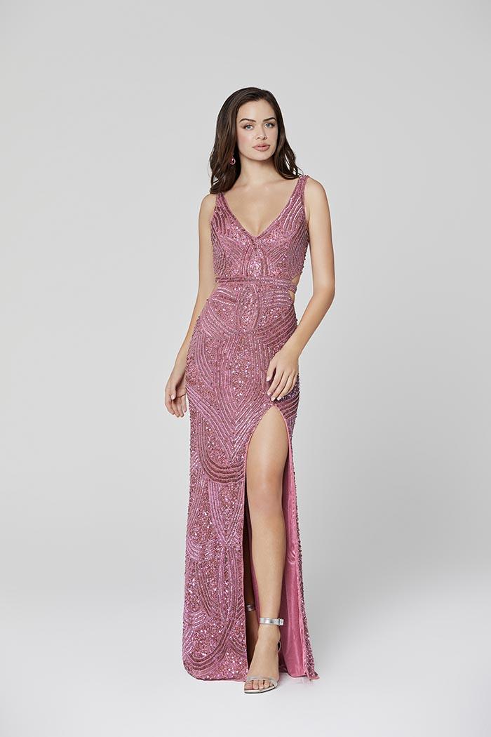 Primavera-3465-RAASPBERRY-Prom Dress