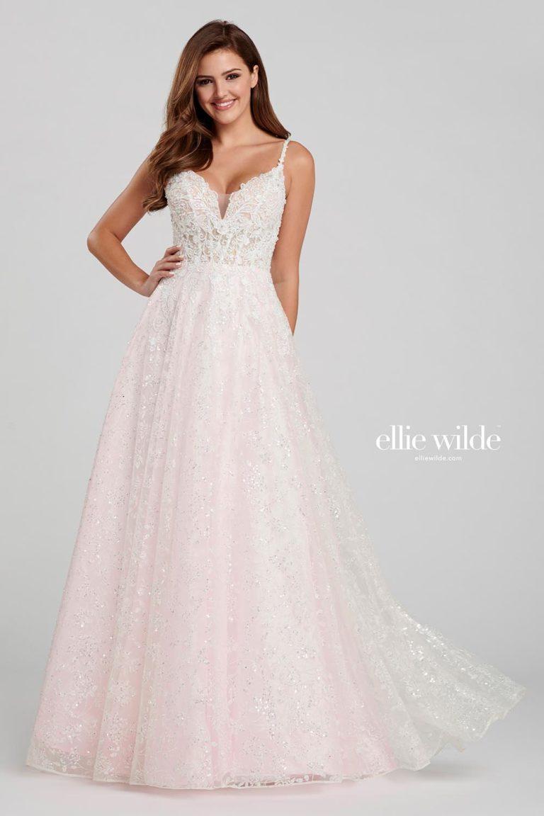 Ellie Wilde Light Pink Prom Dress
