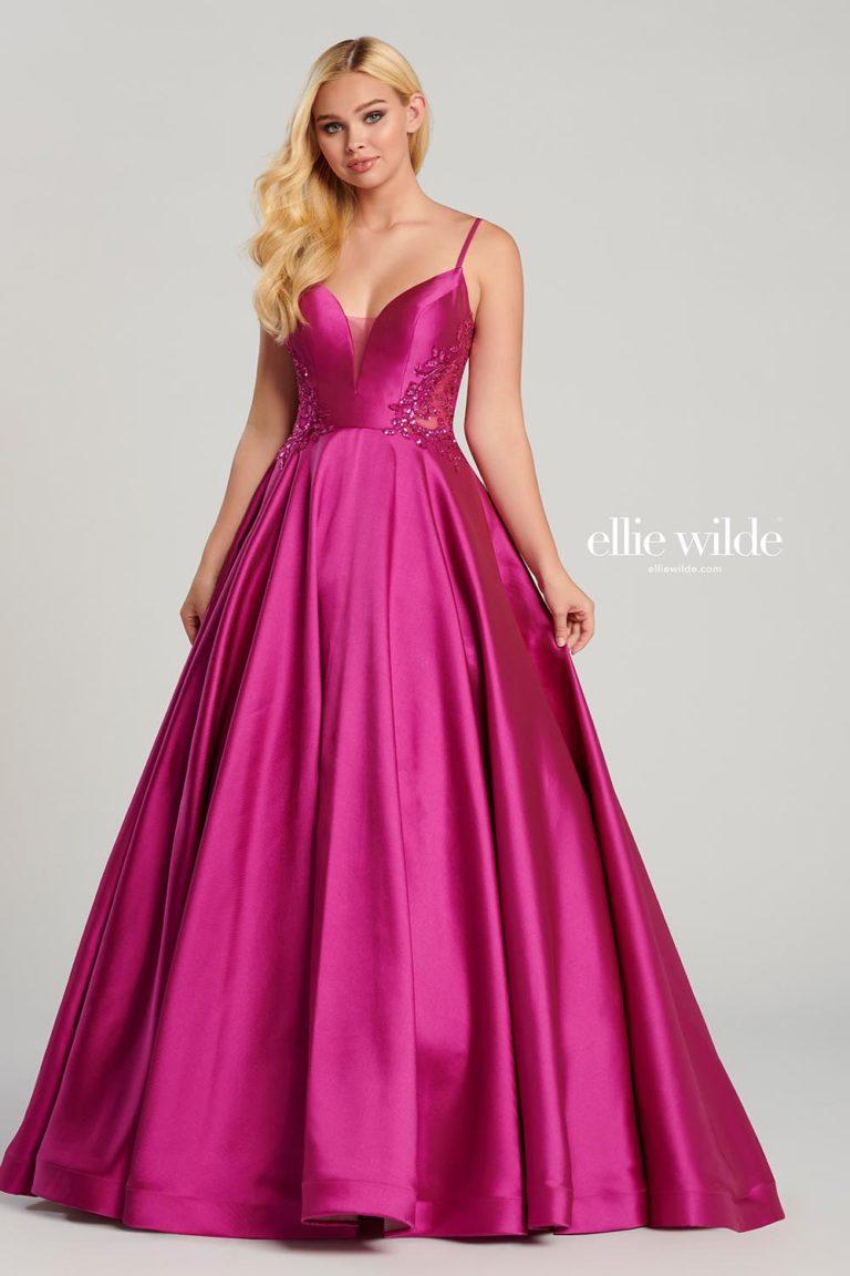 Ellie Wilde Magenta Prom Dress
